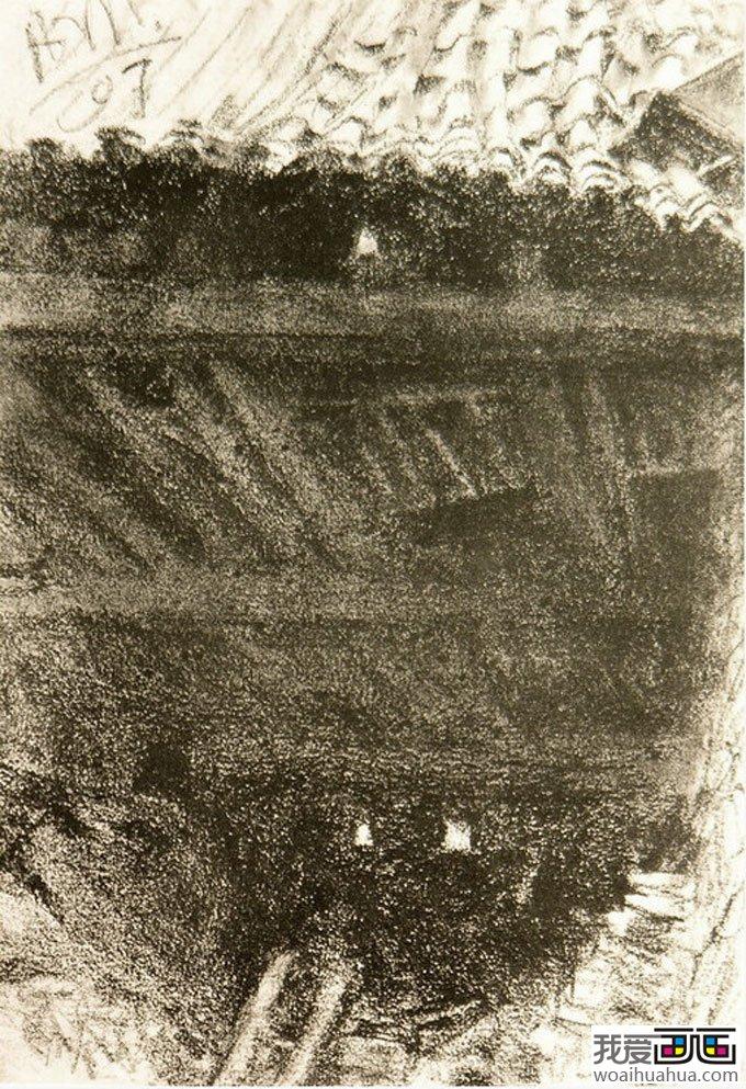 门采尔风景素描速写作品大全(上)-高清素描画图片(3)