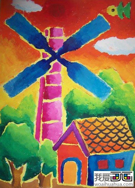 小学生原创水粉画作品欣赏_儿童画教程_学画画_我爱网