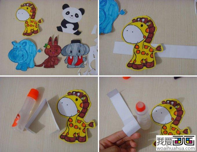 儿童画教程:手工制作动物diy儿童画(4)