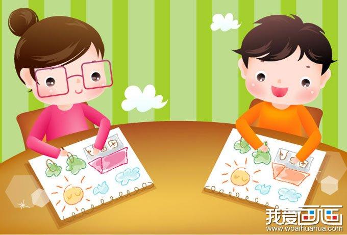 两幅卡通画儿童画画图片_儿童画教程_学画画_我爱画画