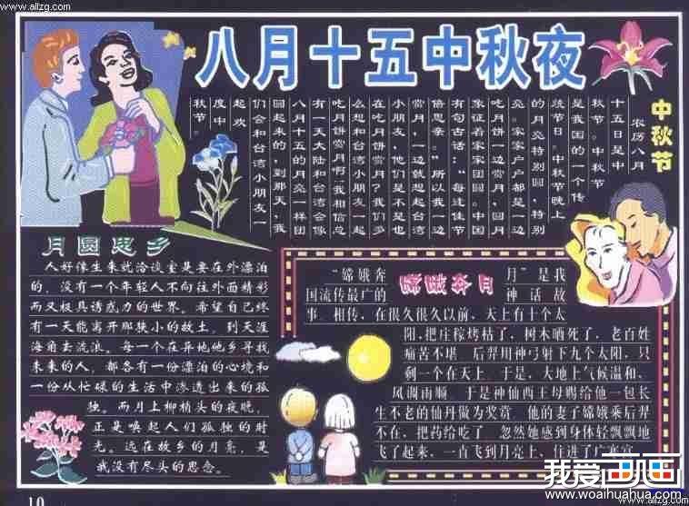 初中生中秋节黑板报图片组图(3)