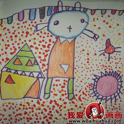 幼儿画画作品:幼儿园中班儿童绘画动物作品(7)