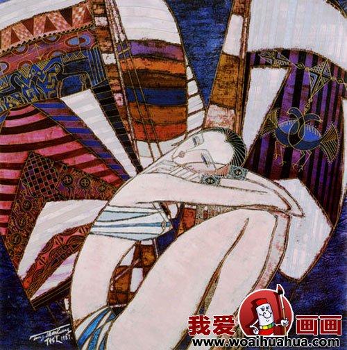 丁绍光人物美术装饰画作品欣赏(12)