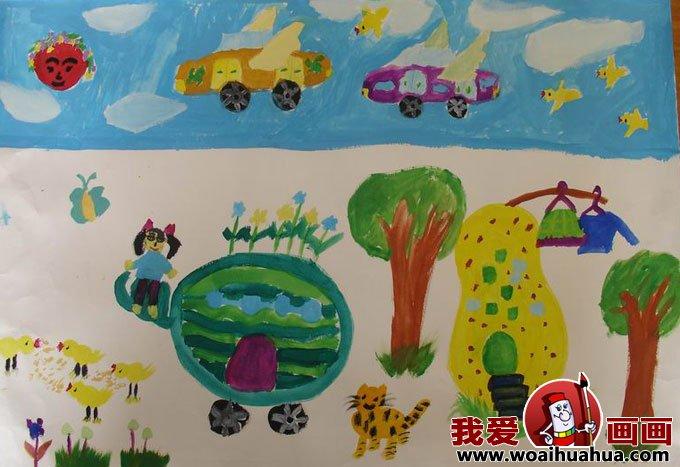 科幻画图片大全-优秀儿童科幻画作品图片欣赏(2)