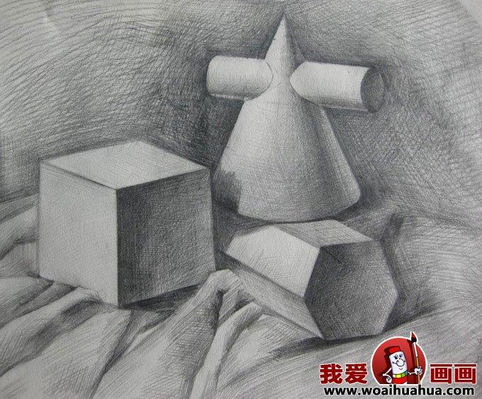 素描几何体-8副石膏几何体素描作品高清图片(3)