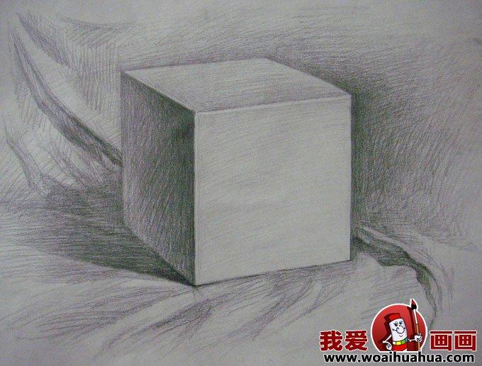 素描几何体-8副石膏几何体素描作品高清图片(4)