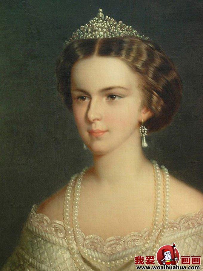欧式宫廷古典油画人物-尊贵女性油画图片欣赏(17)