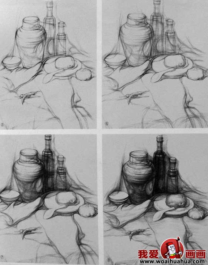 静物素描写生图文教程步骤详解(2)