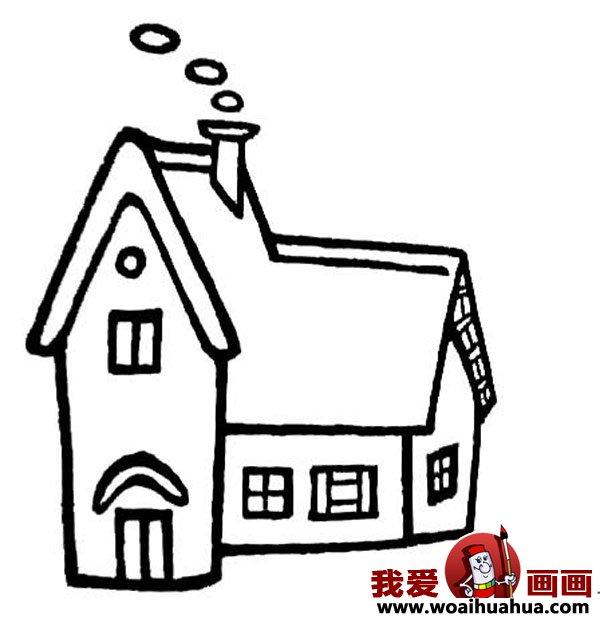 儿童画房子:可爱的小房子简笔画图片大全(4)