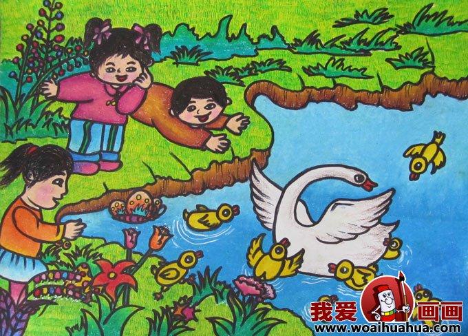 关于儿童画春天的图画,美丽的春天儿童画图片,描写春天的图画儿童画画大全.