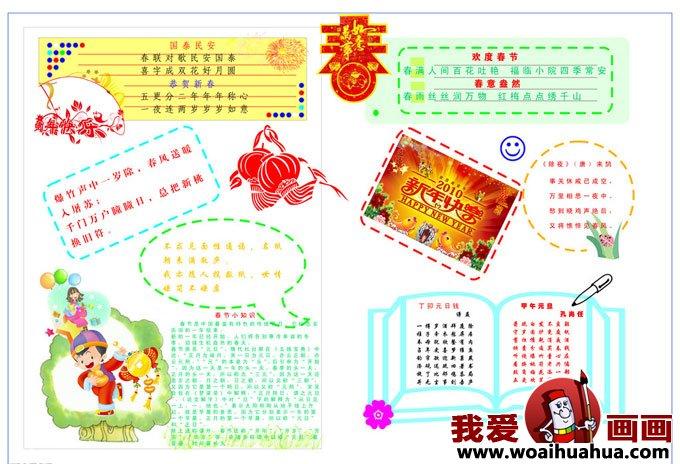 春节手抄报设计图,春节手抄报版面设计图片(2)