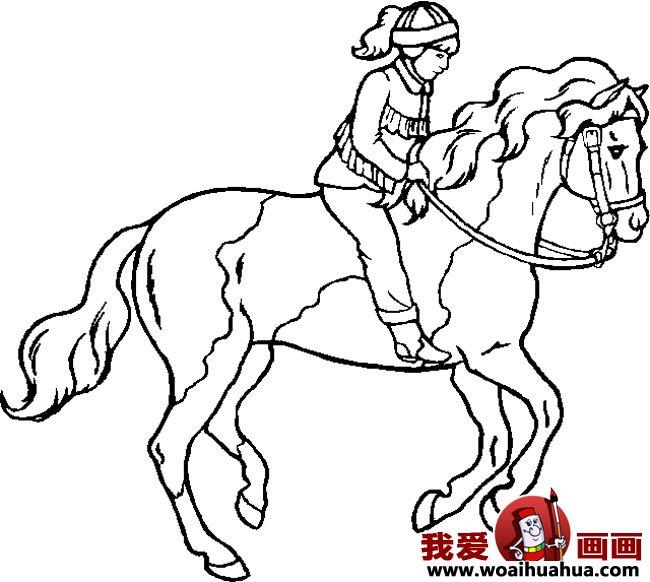 简笔画马,关于马的简笔画10副_儿童画教程_学画画_我