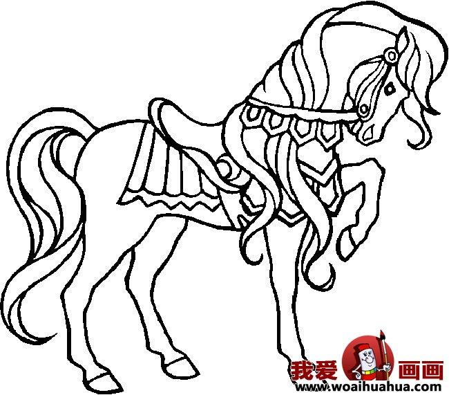 简笔画马,关于马的简笔画10副(3)