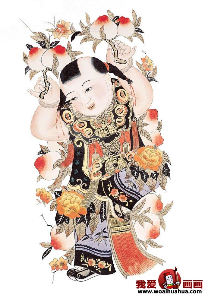 儿童年画图片欣赏,小朋友过春节喜庆图片(4)