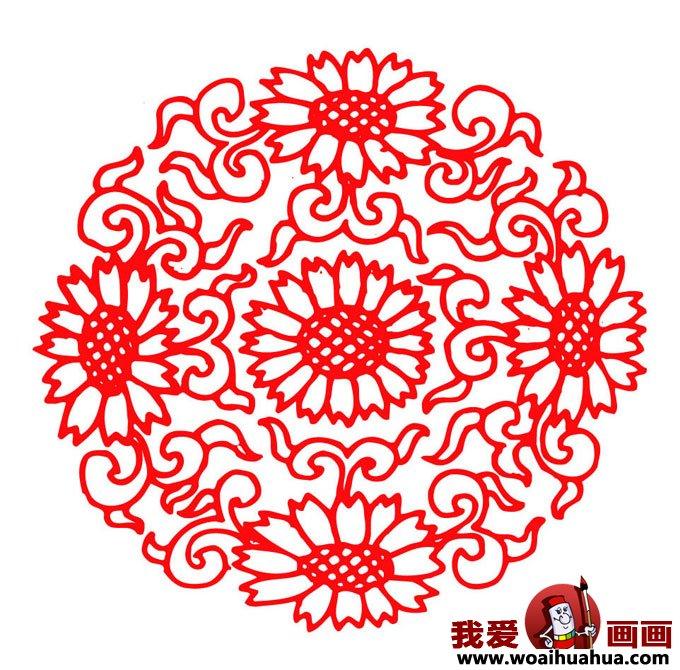民间剪纸:新年窗花剪纸图案大全(2)