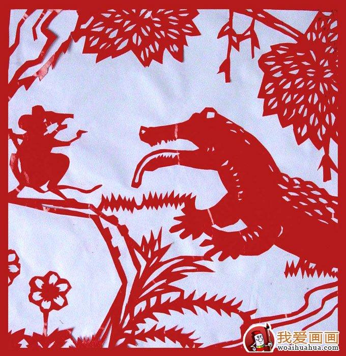 少年儿童手工剪纸图案大全:动物剪纸图片(5)