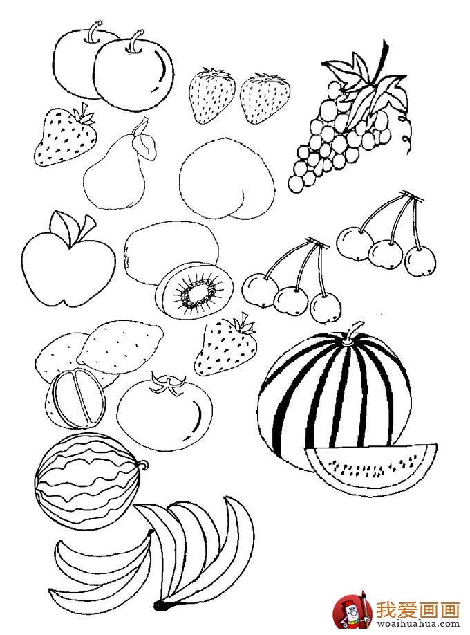 儿童简笔画水果蔬菜,各种蔬菜水果简笔画大全(2)