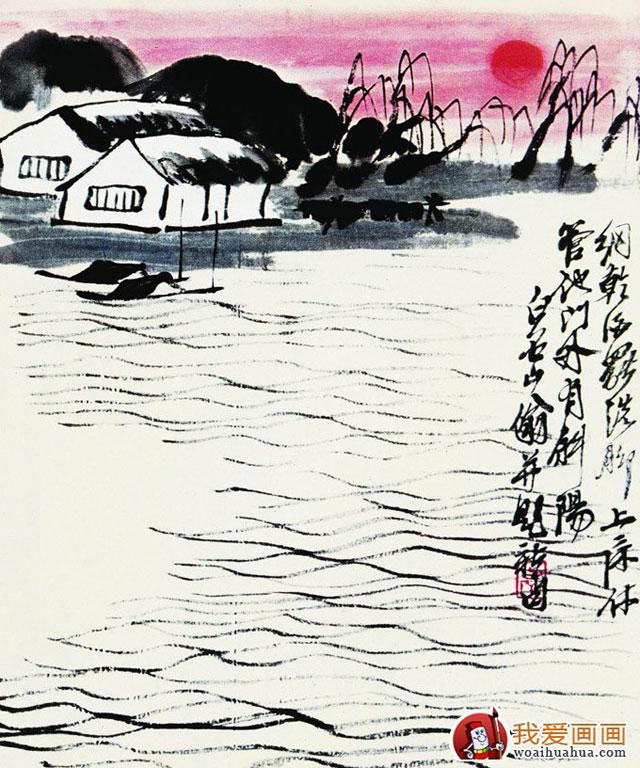 图片 画家画集  1/1                        水墨风景画_齐白石的画