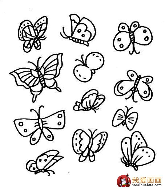 儿童简笔画蝴蝶,美丽的花蝴蝶简笔画图片(5)