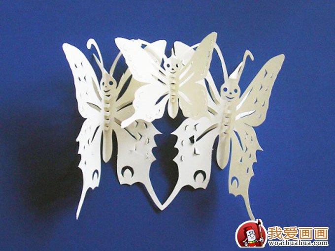 蝴蝶剪纸教程,蝴蝶的手工制作剪纸方法教程(11)