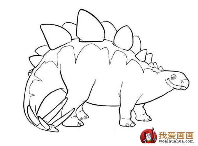 恐龙简笔画,儿童简笔线描画恐龙图片大图10张(4)