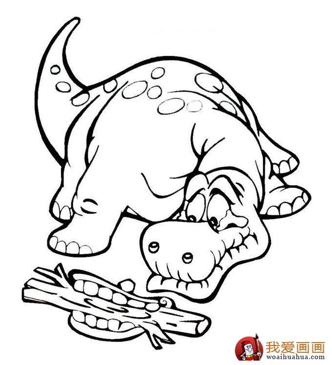 铅笔画龙教程-恐龙简笔画 恐龙图片 线描画