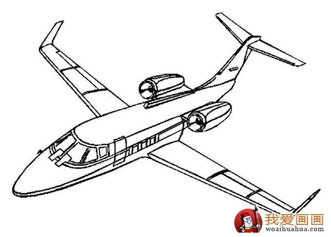 飞机简笔画,各种各样的简笔画飞机图片(11副)