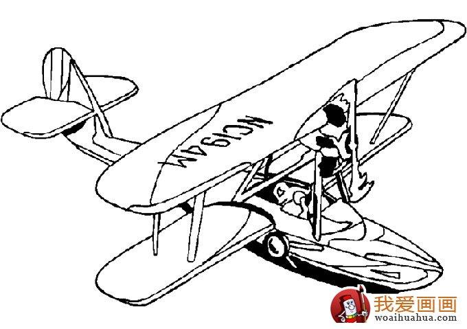 飞机简笔画,各种各样的简笔画飞机图片(11副)(10)