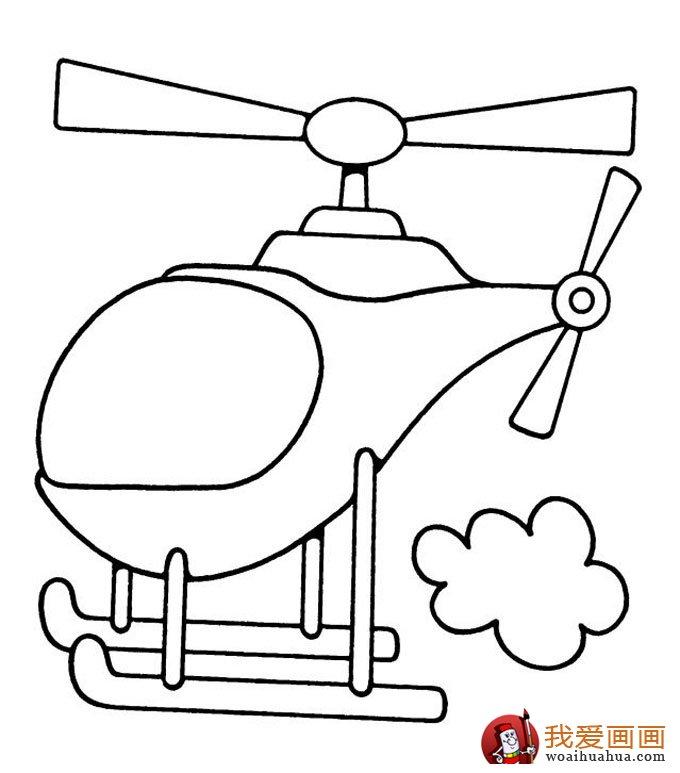 飞机简笔画,各种各样的简笔画飞机图片(11副)(11)