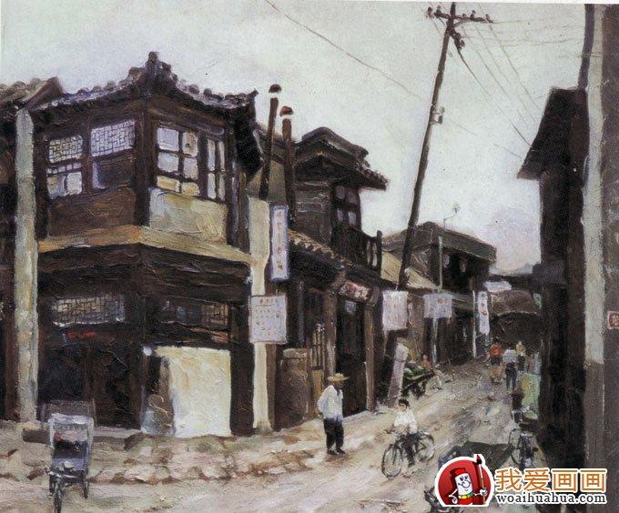 室外风景画色彩写生手绘速写作品(4)_世界名画_百科
