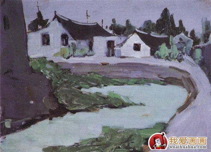 室外风景画色彩写生手绘速写作品(5)