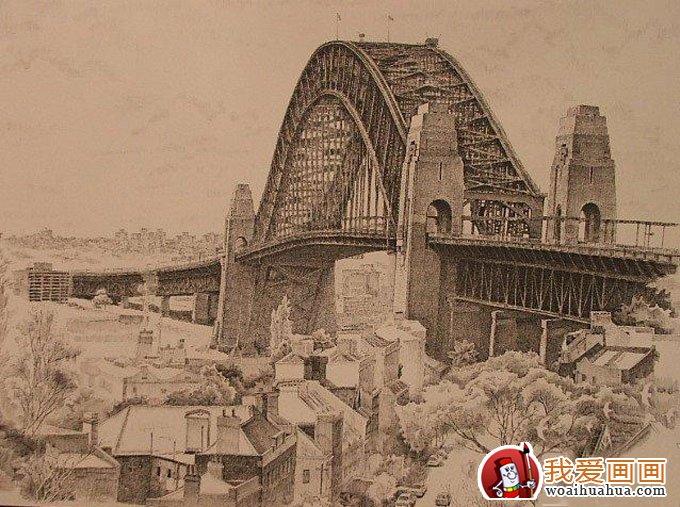 欧式建筑钢笔画风景手绘写生作品欣赏(4)