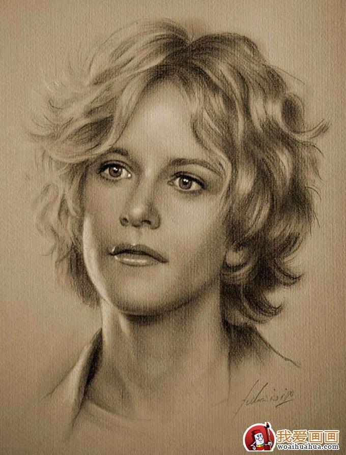 人物铅笔画图片:逼真完美好莱坞明星铅笔素描(下)(2)