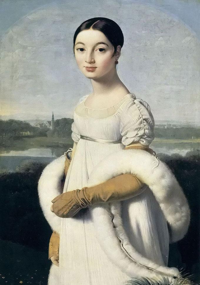 2/1                        安格尔人物肖像油画《泉图片