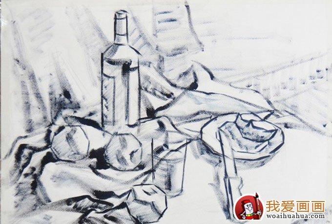 静物的色彩水粉与素描画法训练步骤教程(3)