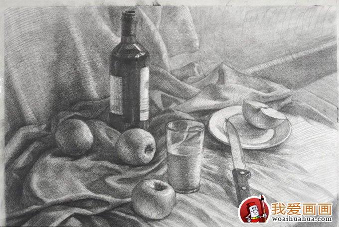 静物的色彩水粉与素描画法训练步骤教程(16)