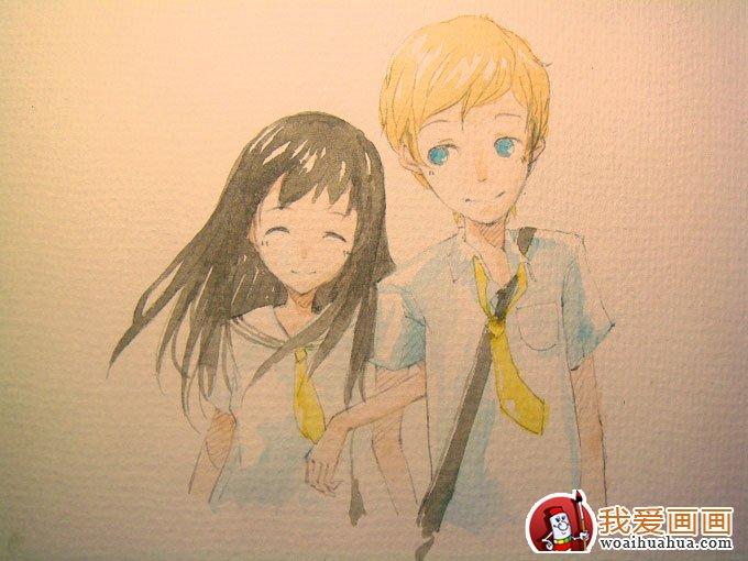 卡通人物水彩画绘画步骤的简单教程(5)