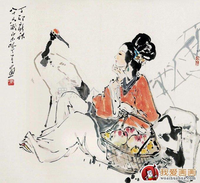 写意仙鹤:写意画仙鹤的精品国画欣赏