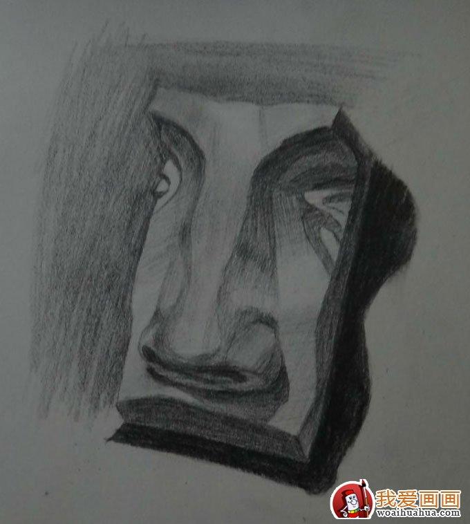 石膏像鼻子的素描画图片:各种鼻子素描(4)