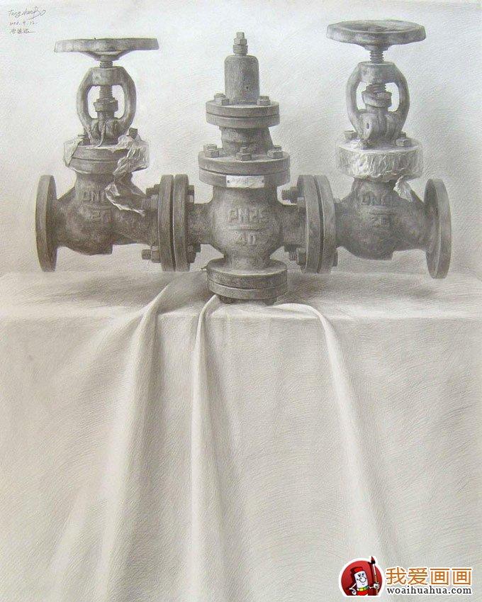 静物素描:一组超写实素描静物作品高清图片(2)