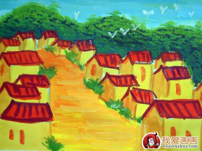少年儿童水粉画:儿童风景水粉画欣赏(5p)(3)