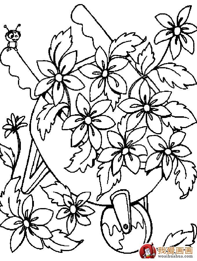 简笔画花卉大全,各种植物花儿简笔画图片26副(下)(11)