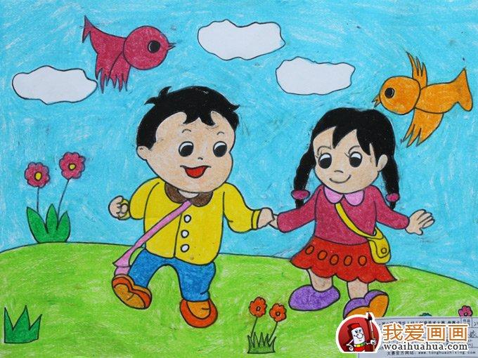 幼儿绘画作品图片,幼儿画画作品欣赏大图_儿童画教程