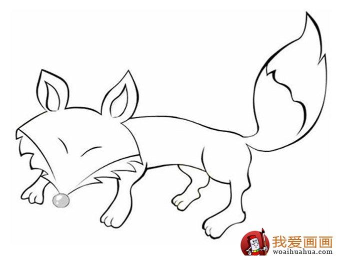 简笔画狐狸大全:可爱的小狐狸简笔画图片13张(2)