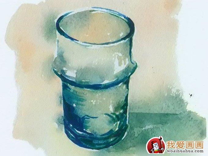 用水彩画玻璃水杯绘画图文教程(18)