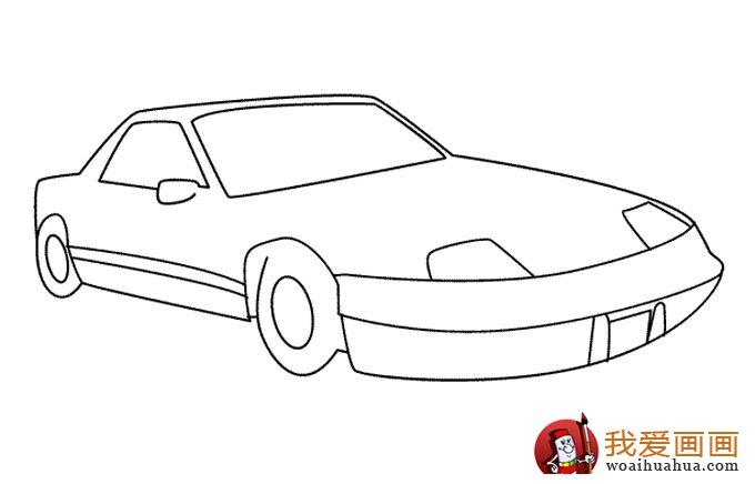 小汽车简笔画,儿童简笔画小汽车大图(3)
