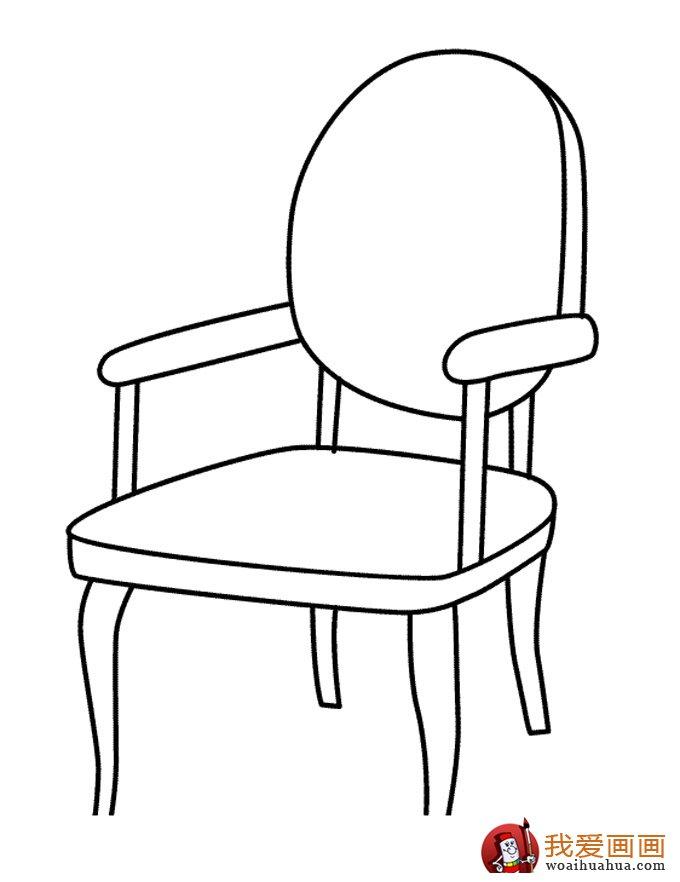 椅子简笔画,儿童简笔画椅子图片大全(3)