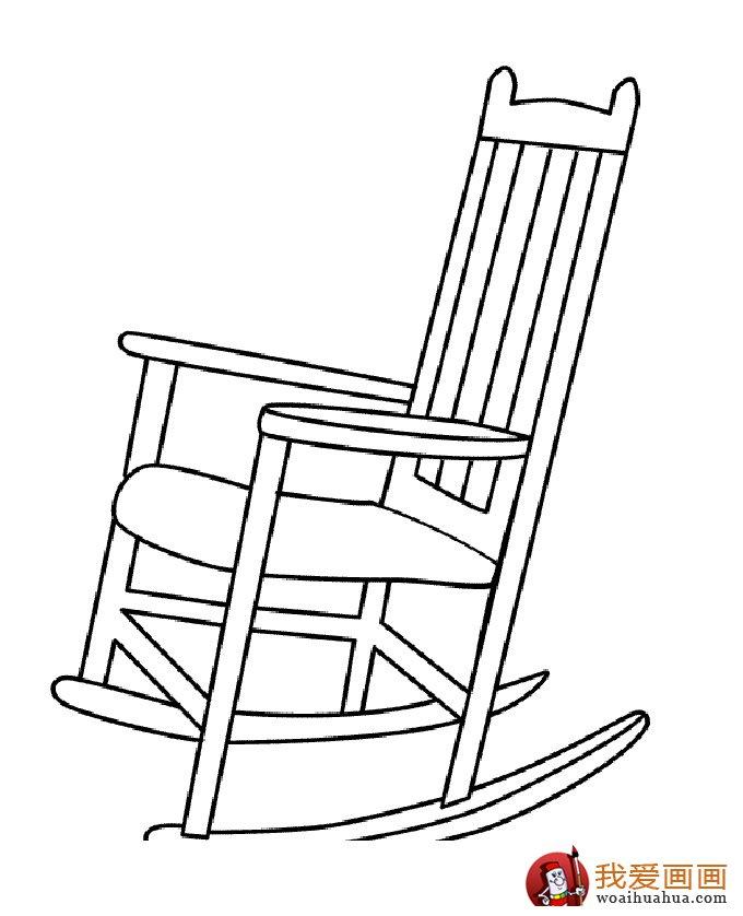 椅子简笔画,儿童简笔画椅子图片大全(4)