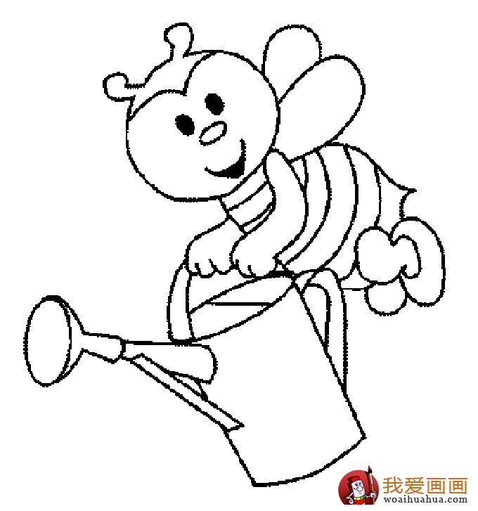 小蜜蜂简笔画,蜜蜂简笔画图片大全(5)