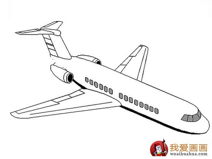 交通工具简笔画图片:飞机简笔画图片